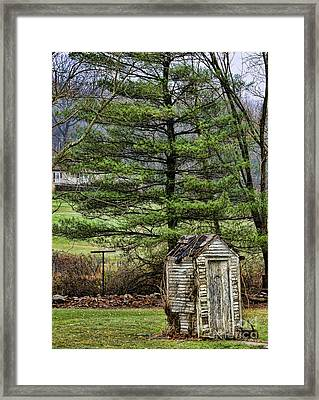 Outhouse In The Backyard Framed Print