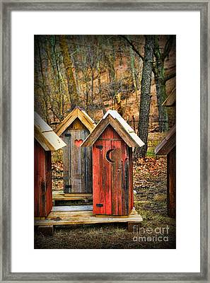 Outhouse It's Your Pick Framed Print