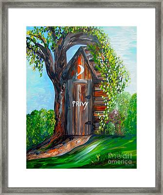 Outhouse - Privy - The Old Out House Framed Print