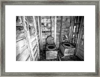 Framed Print featuring the photograph Outhouse by Robert  Aycock