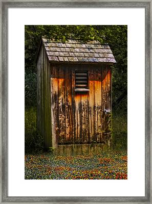 Outhouse Shack Framed Print