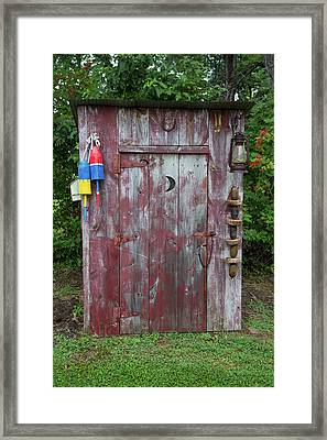Outhouse Shed In A Garden, Marion Framed Print