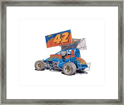 Dirt Track Racing Outlaw 42 Framed Print by Jack Pumphrey