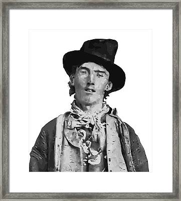 Outlaw Legend Billy The Kid Framed Print