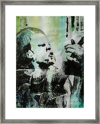 Outlaw Torn Framed Print by Chad Rice
