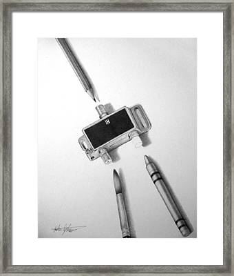 Outlet Framed Print by Anthony Johnson