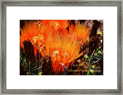 Outpouring Of Glory Framed Print by Beverly Guilliams