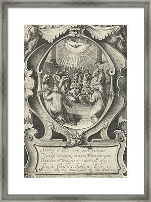 Outpouring Of The Holy Spirit, Zacharias Dolendo Framed Print