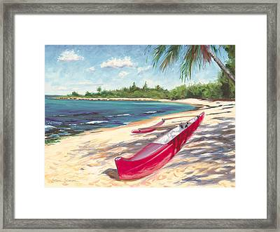 Outrigger - Haleiwa Framed Print by Steve Simon