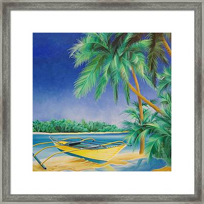 Outrigger Framed Print by William Love