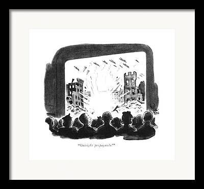 Men Conversing Framed Prints