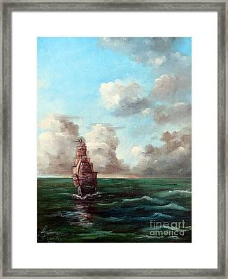 Outrunning The Storm Framed Print