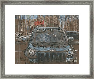 Framed Print featuring the painting Outside Biglots by Donald Maier