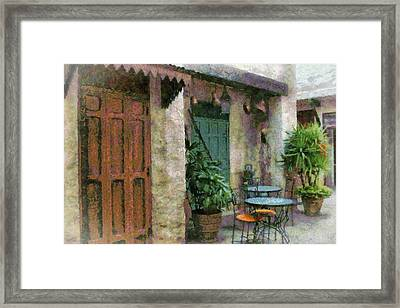 Outside Cafe Framed Print by Kathy Jennings