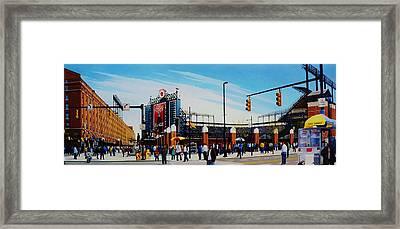 Outside Camden Yards Framed Print