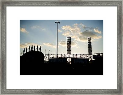 Outside Comiskey Park Framed Print