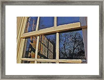 Framed Print featuring the photograph Outside In by Geri Glavis