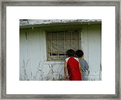 Framed Print featuring the photograph Outside Looking In by Jane Ford
