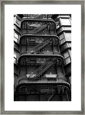 Outside Stairs Framed Print