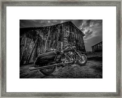 Outside The Barn Bw Framed Print by Yo Pedro