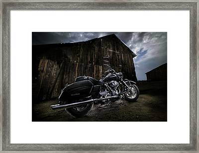 Outside The Barn Framed Print by Yo Pedro