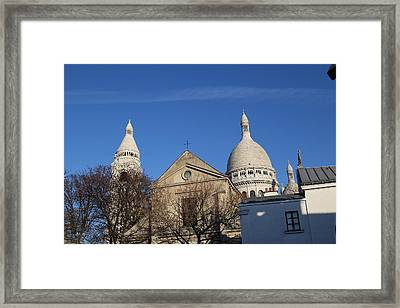 Outside The Basilica Of The Sacred Heart Of Paris - Sacre Coeur - Paris France - 01131 Framed Print by DC Photographer