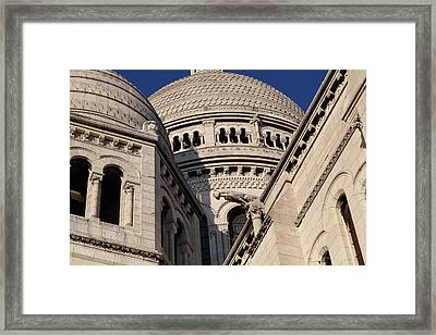 Outside The Basilica Of The Sacred Heart Of Paris - Sacre Coeur - Paris France - 011310 Framed Print by DC Photographer