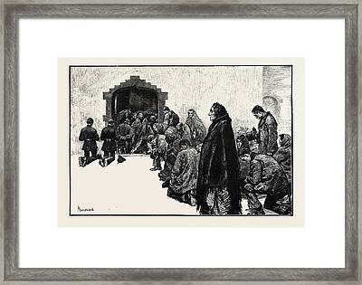 Outside The Chapel, Woodford Boycotted Police Ireland Framed Print by Irish School