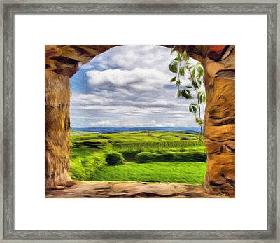 Outside The Fortress Wall Framed Print by Jeff Kolker