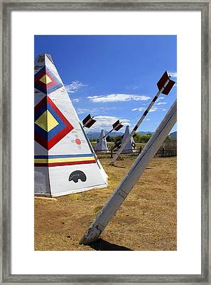 Outside The Hogan Trading Post Framed Print by Mike McGlothlen