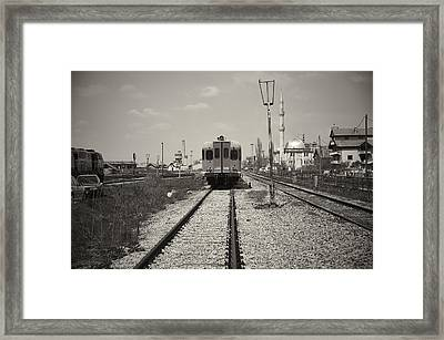 Outside The Station Framed Print