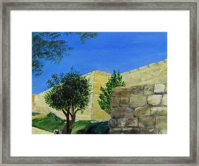 Outside The Wall - Jerusalem Framed Print