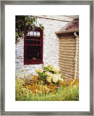 Outside The Window Framed Print
