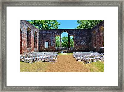 Outside Wedding Framed Print