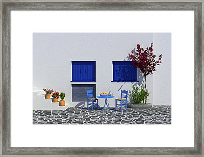 Ouzo And Oranges Framed Print by Paul McManus