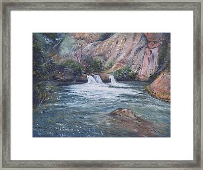 Ouzoud Waterfalls Tanaghmeilt Morocco Framed Print by Enver Larney