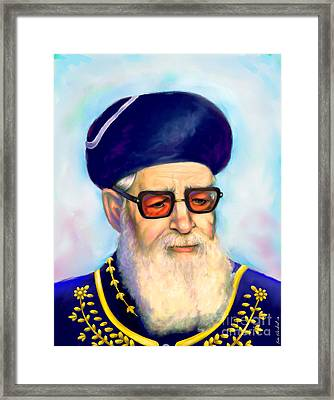 Ovadiah Yosef Framed Print by Sam Shacked
