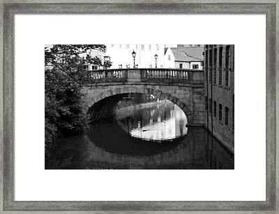 Framed Print featuring the photograph Oval Bridge Over The River Foss York by Scott Lyons