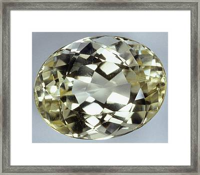 Oval Brilliant-cut Amblygonite Framed Print by Dorling Kindersley/uig
