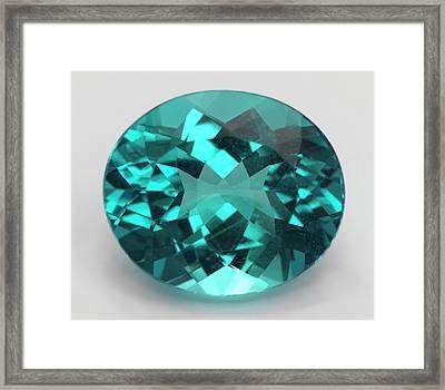Oval Cut Apatite Gemstone Framed Print by Dorling Kindersley/uig