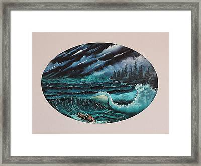 Oval Ocean View Framed Print
