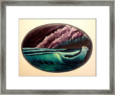 Oval Ocean View Framed Print by Joyce Krenson