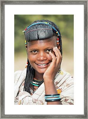Ovazimba Woman Framed Print