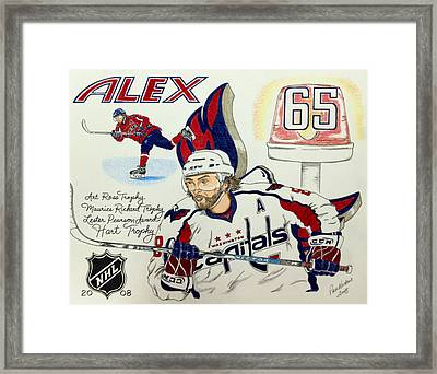 Ovechkin 2008 Framed Print by Paul Nichols
