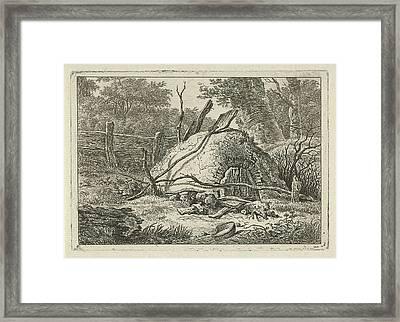 Oven With Shovel, Hermanus Fock Framed Print by Hermanus Fock