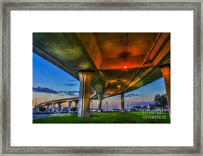 Over And Beyond Framed Print