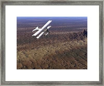 Framed Print featuring the digital art Over Arizona by John Pangia