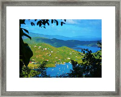 Over Coral Bay Framed Print