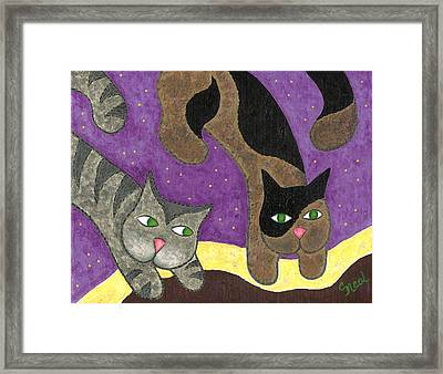 Over Cover Cats Framed Print
