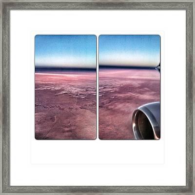 Over Earth Framed Print by Amy Manley